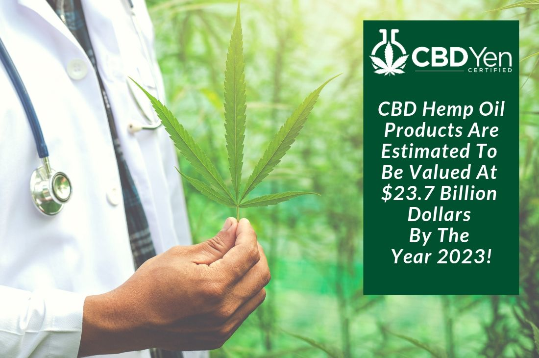 You are currently viewing Hemp CBD Oil Products Could Be Worth $23.7 Billion By 2023